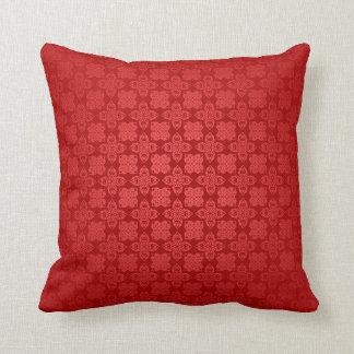 Red Batik Throw Pillow