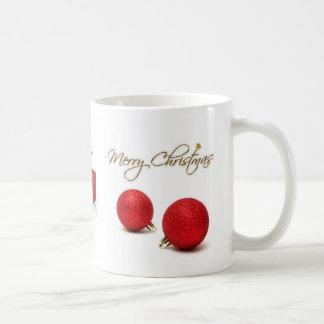 Red Baubles Merry Christmas Mug