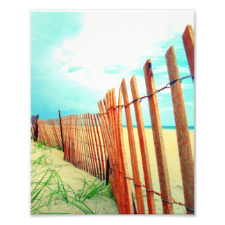 Red Beach Dune Fence Photo