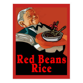 Red Beans & Rice ,vintage waiter Postcard