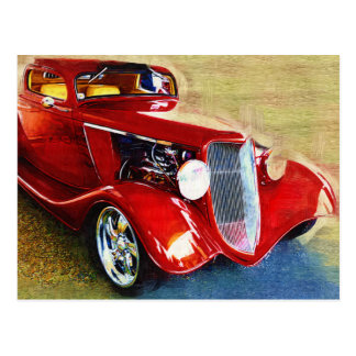 Red Beauty - Classic Collector's Car Postcard