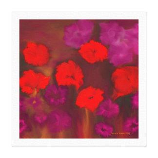 Red Beauty Flower Art Canvas Print