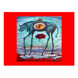 RED Beauty is in the eye of the Beholder- Postcard