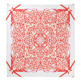Red beauty square mandala bandana
