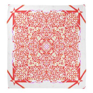 Red beauty square mandala do-rag