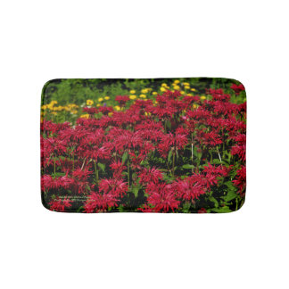Red Bee Balm Gloriosa Daisies bath mat