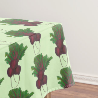 Red Beet Bunch Garden Vegetable Beetroot Foodie Tablecloth