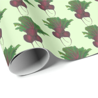 Red Beet Bunch Vegetable Vegetarian Gardening Food Wrapping Paper