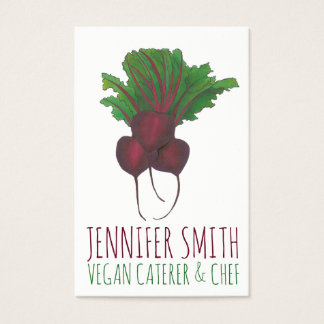 Red Beet Bunch Vegetarian Vegan Chef Caterer Business Card