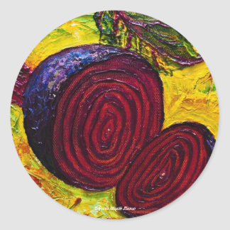 Red Beets Classic Round Sticker