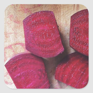Red Beets Square Sticker
