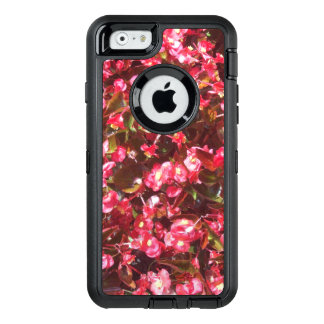 Red Begonia Flowers OtterBox Defender iPhone Case