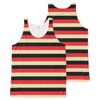Red, Beige and Black Stripes