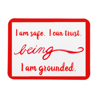 "Red ""Being"" Root Chakra Awareness Words Magnet"