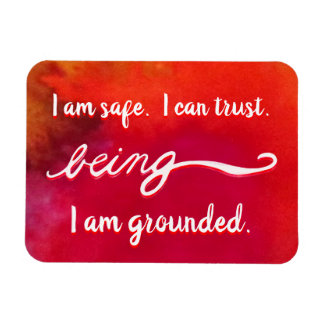 "Red ""Being"" Root Chakra Awareness Words Magnets"