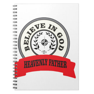 red believe in god spiral notebooks