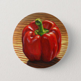 Red Bell Pepper 2 Inch Round Button