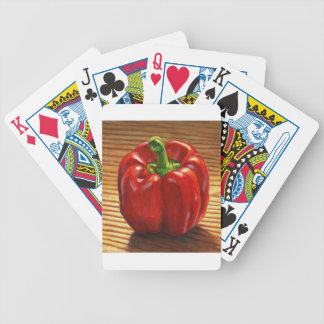 Red Bell Pepper Bicycle Playing Cards