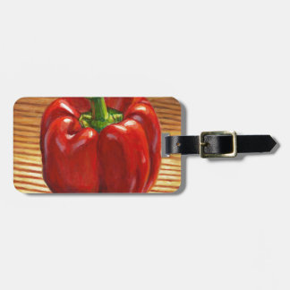 Red Bell Pepper Luggage Tag
