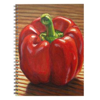 Red Bell Pepper Notebook