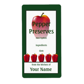 Red Bell Pepper Preserves Cook's Canning Label Shipping Label