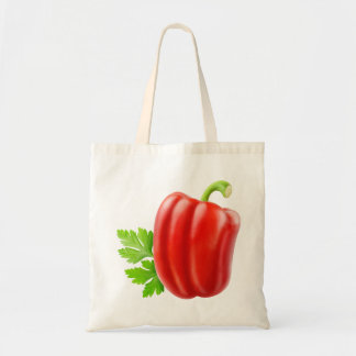 Red bell pepper tote bag