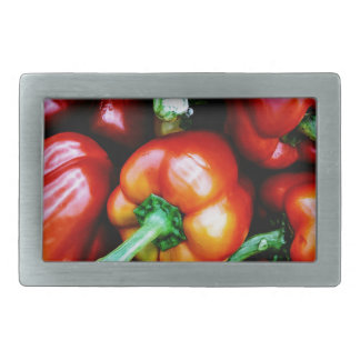 Red Bell Peppers Belt Buckles