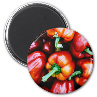Red Bell Peppers Magnet