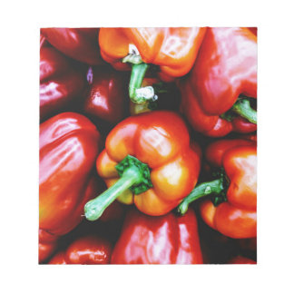 Red Bell Peppers Notepad