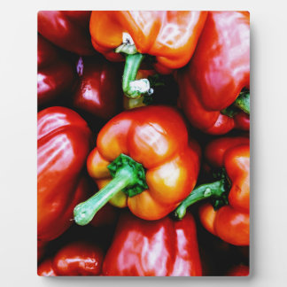 Red Bell Peppers Plaque