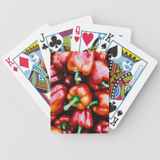 Red Bell Peppers Poker Deck