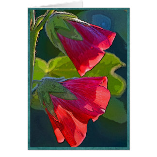 Red bell-shaped flowers card
