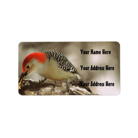 Red Bellied Woodpecker Label