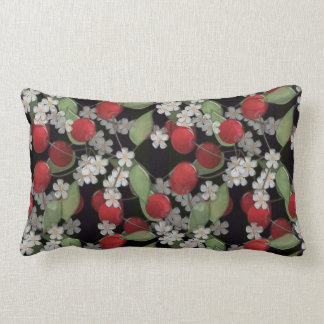 Red berries lumbar pillow