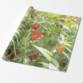 Red Berries Matte Wrapping Paper