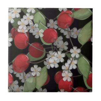 Red berries tile