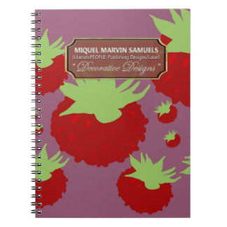 Red Berry Purple Decorative Modern Notebook
