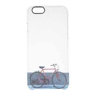 Red Bicycle Clear iPhone 6/6S Case