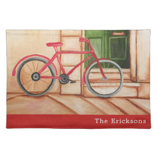 Red Bicycle Cloth Placemat