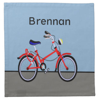 Red Bicycle Napkin
