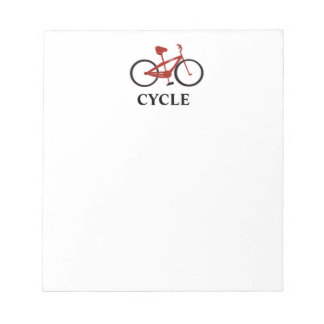 Red Bicycle Notepad