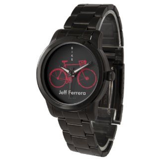 red Bicycle personalized with Name Watch