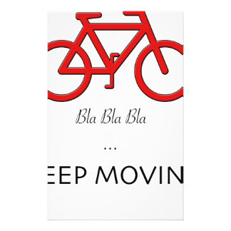 red bicycle quote customized stationery