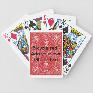 Red Bicyle make your own Bicycle Playing Cards