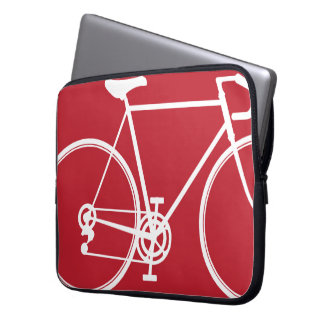 Red bike design Laptop Sleeve