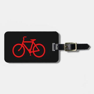 Red Bike Luggage Tag