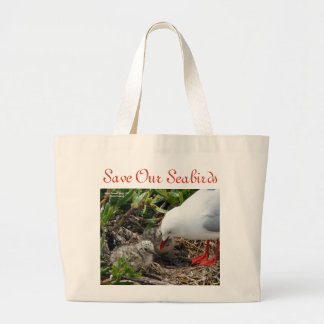 Red-Billed Gull and Chicks Bag by RoseWrites