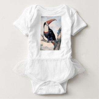 red billed toucan baby bodysuit