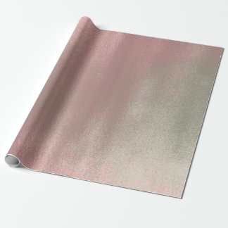 Red Bin Rose Blush Mint Green Grey Glass Ombre Wrapping Paper