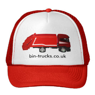 red bin truck baseball cap trucker hat